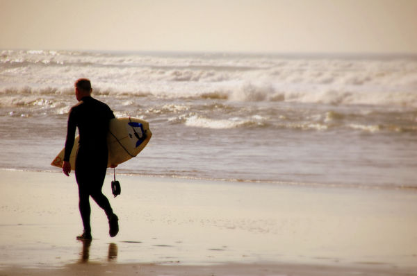 Surfer by the sea
