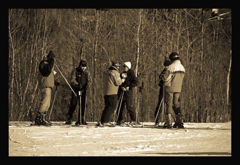 Ski sun down!!