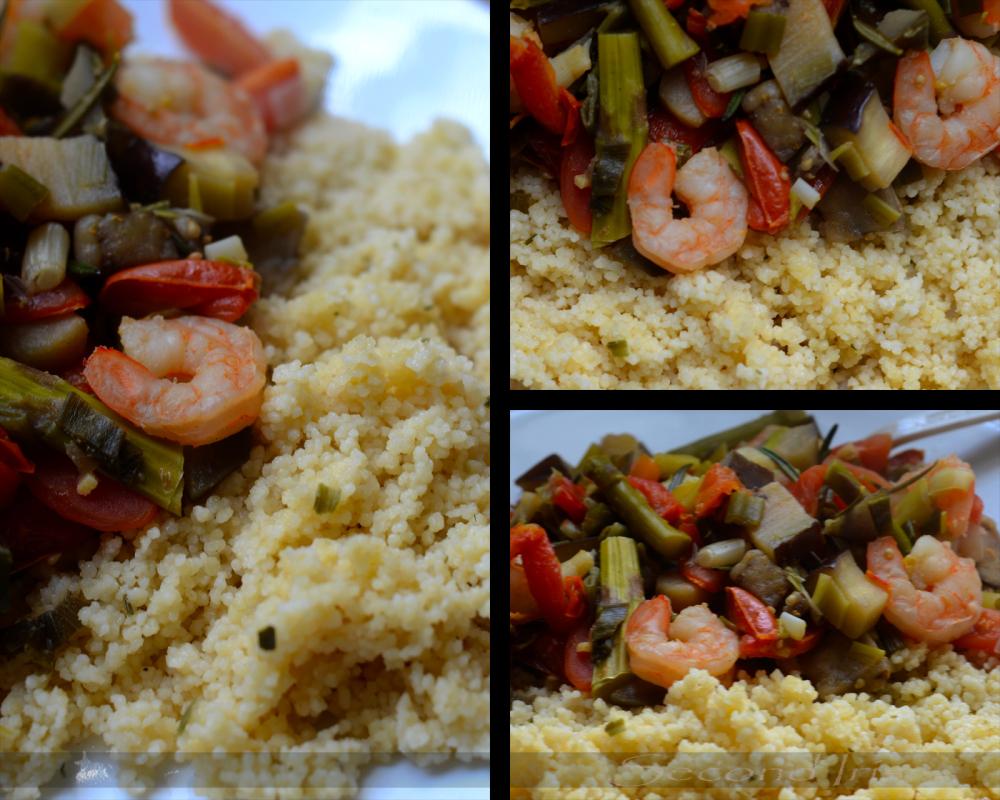 Shrimp and couscous