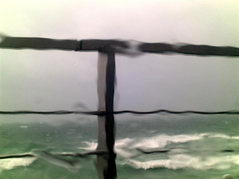 a windy rainy day