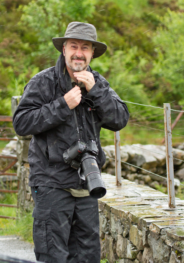 Mad wet photographer