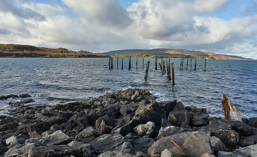 Salen old pier