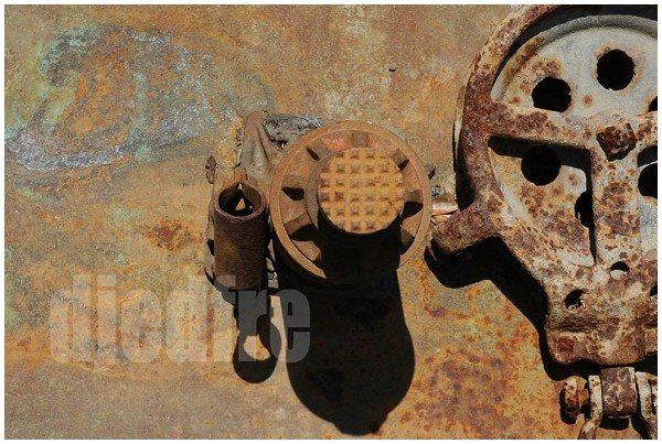 rusted metal mask face
