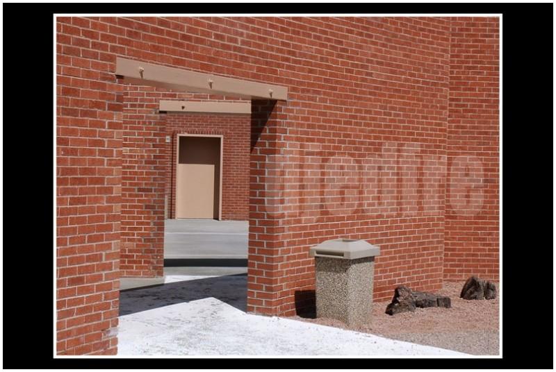 zigzag brick doors