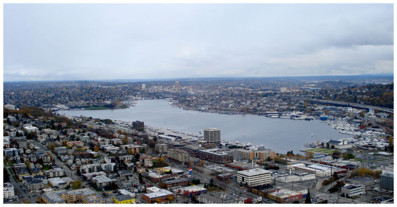 Lake Union, Seattle (view from the Space needle)