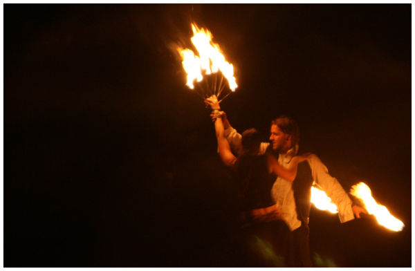 Winter Solstice Festival, Fire dancing