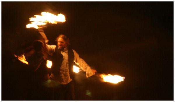 Winter Solstice Festival, Fire dancing