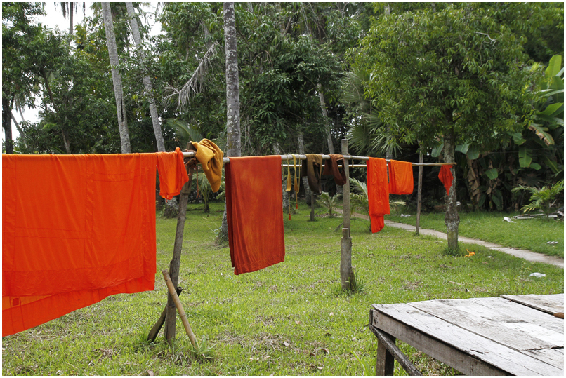 Laundry day at the monks in Luang Prabang