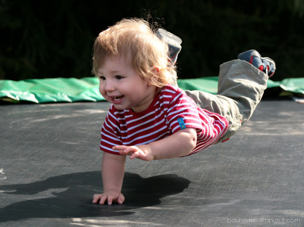 A very young gymnast