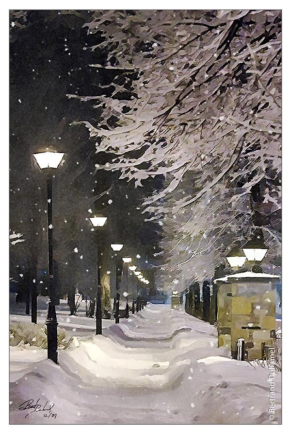 Winter scene in Granby