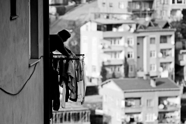 to dry the laundry in such great heights