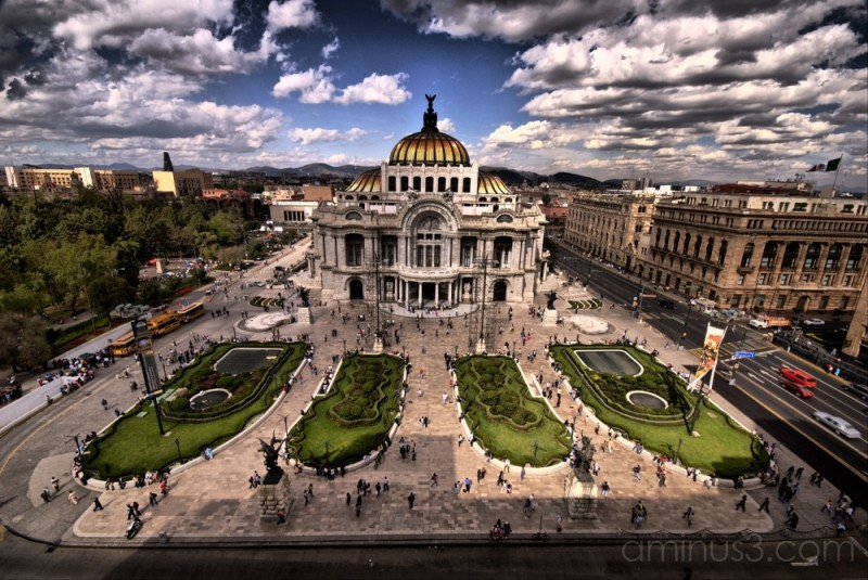 Bellas Artes in downtown Mexico City.
