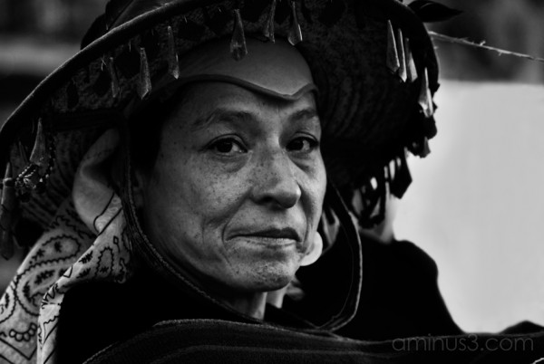 A proud Mexican woman poses for the lens.