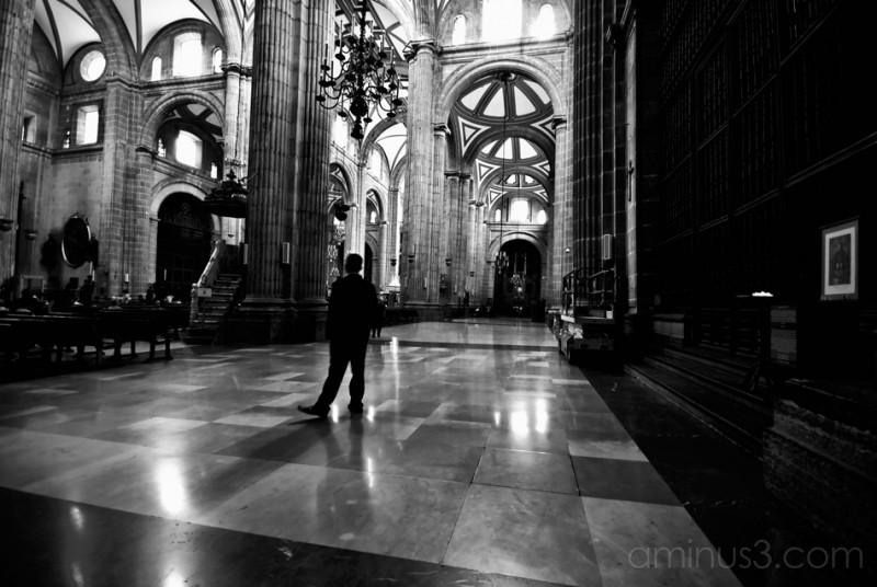 A man meditates at San Judas Tadeo.