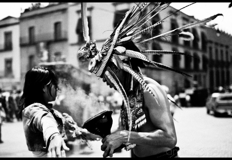 A shaman performs a daily ritual.