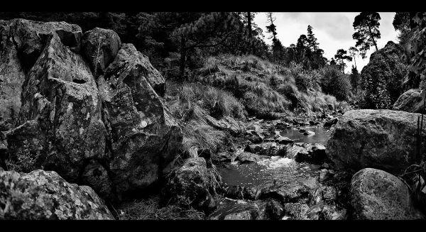 Rocks, stones, and stream - La Marquesa, Mexico