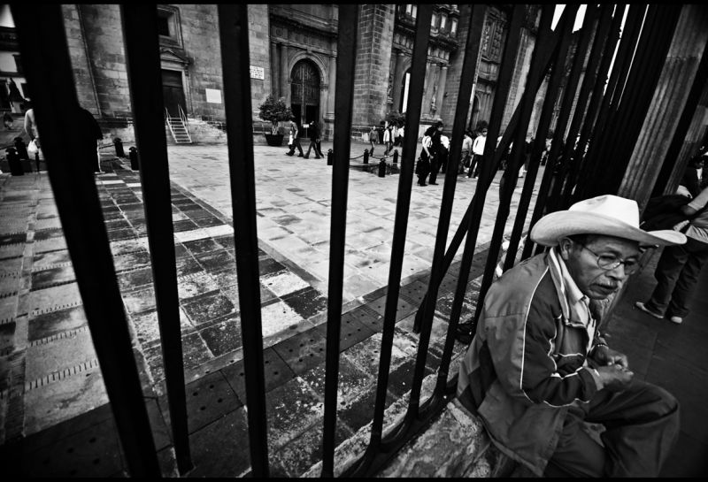 At the gates of the Catedral, Mexico City.