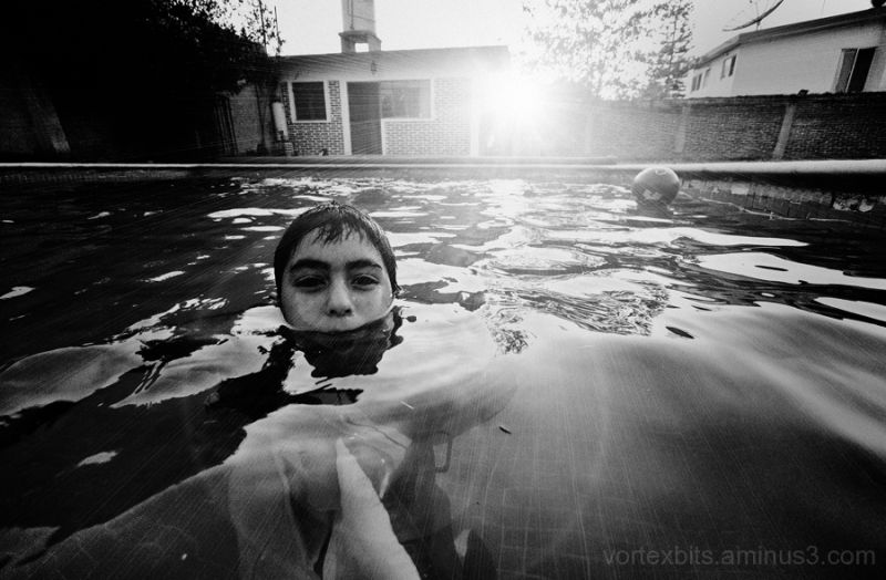 Luis at the pool in Temixco.