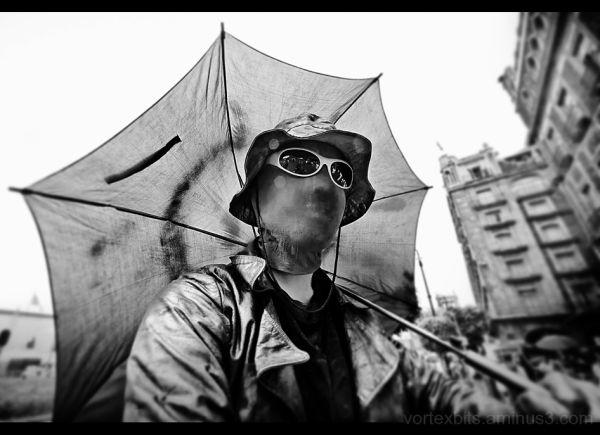 Street Performer at Zocalo, Mexico City