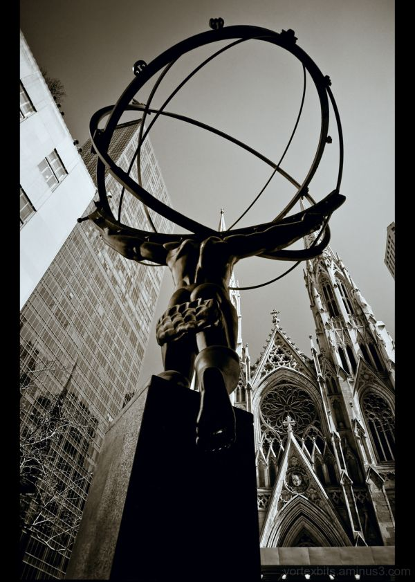 Atlast at Rockefeller Center, New York City.