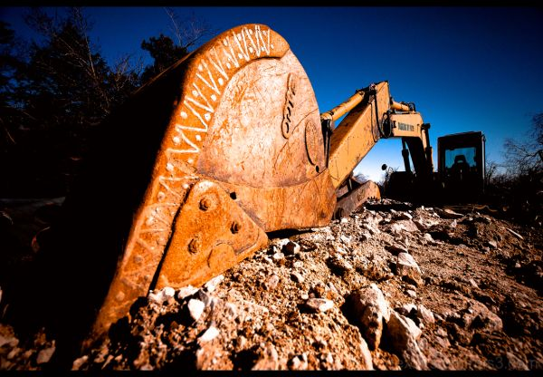 Excavator in upstate, New York.