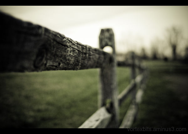 A wooden fence in Upstate, New York.