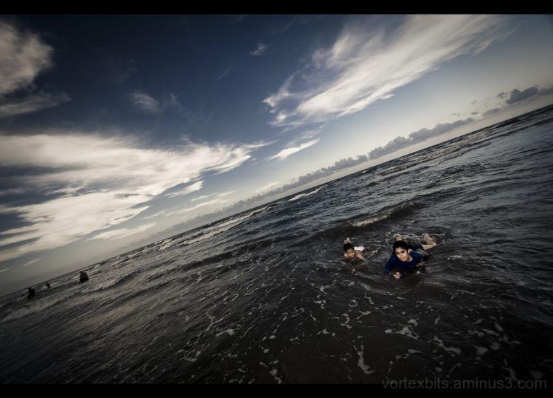 At the beach in Cazones, Veracruz