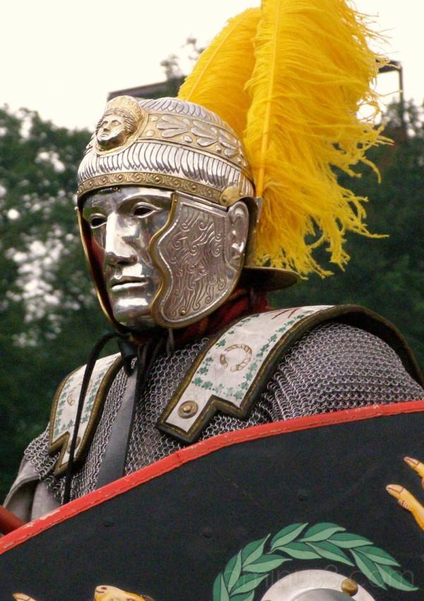 A Roman Standard bearer.