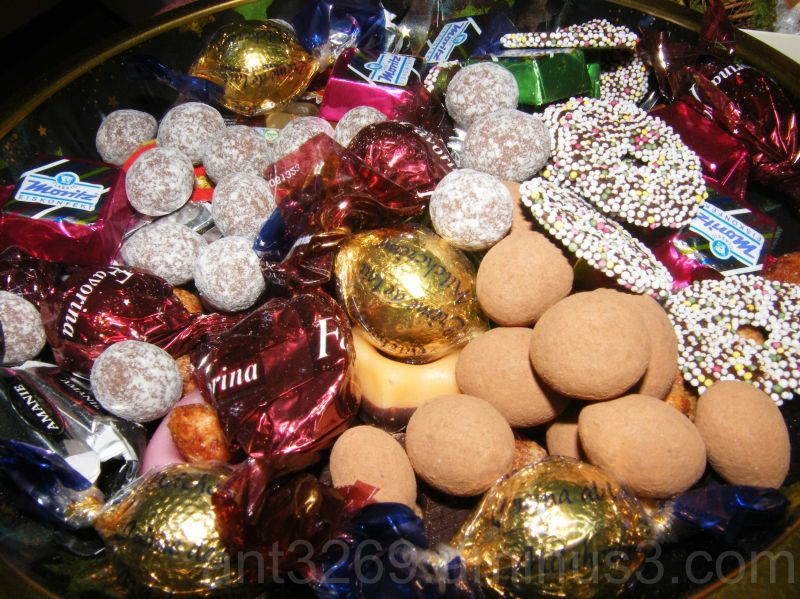 Advent sweety plate