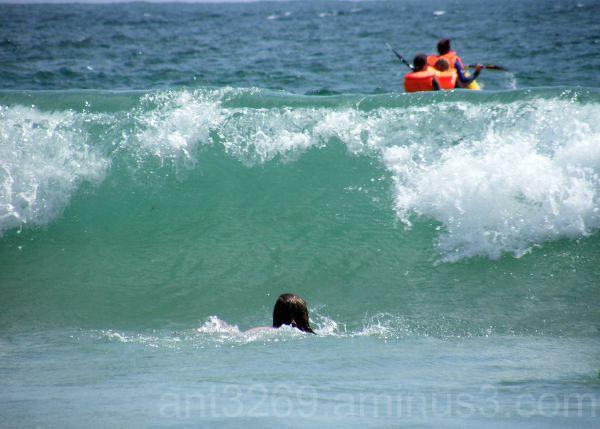 Mucking around in the waves