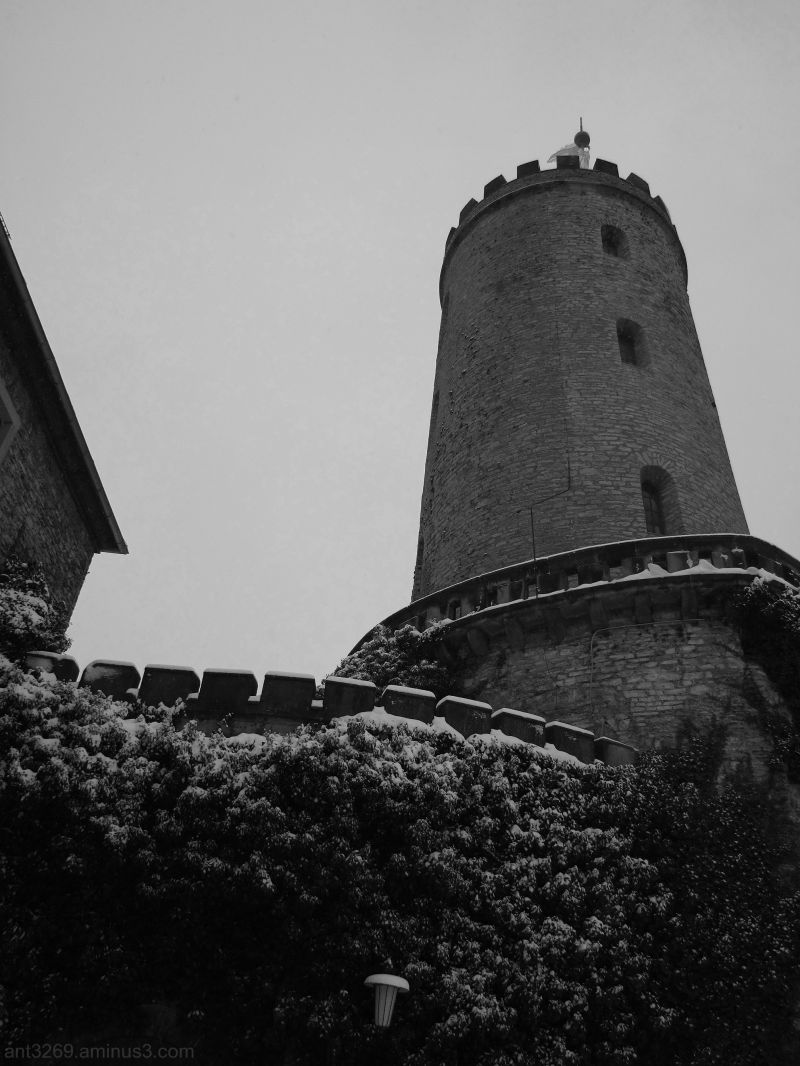 Black and white tower