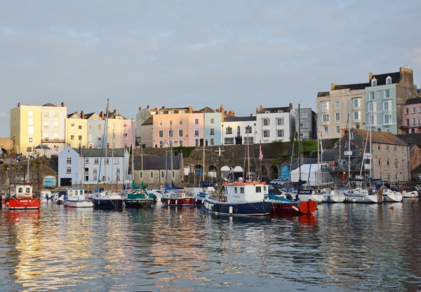 Tenby harbour from the sea