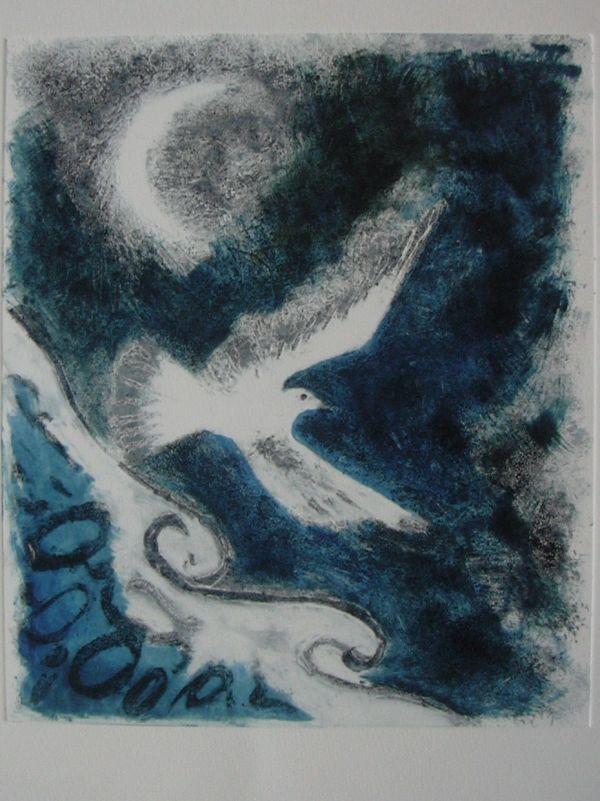 Gull, Monoprint and Carborundum