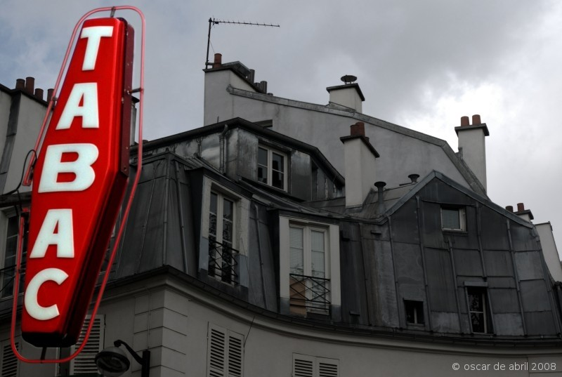 Neon sign and the roof