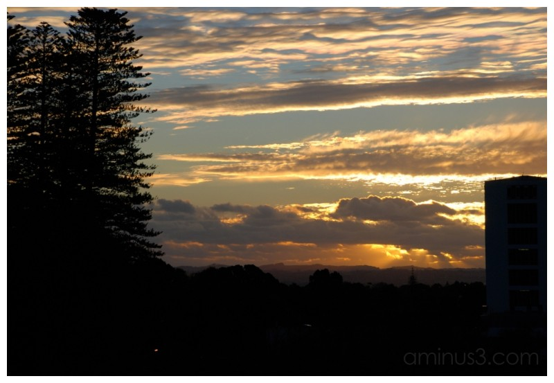 Sunset over the Waitakeres
