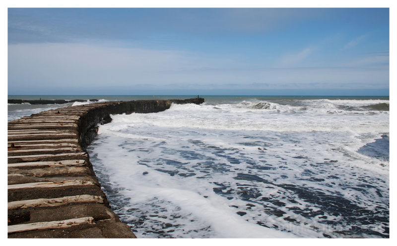 Breakwater at Patea beach