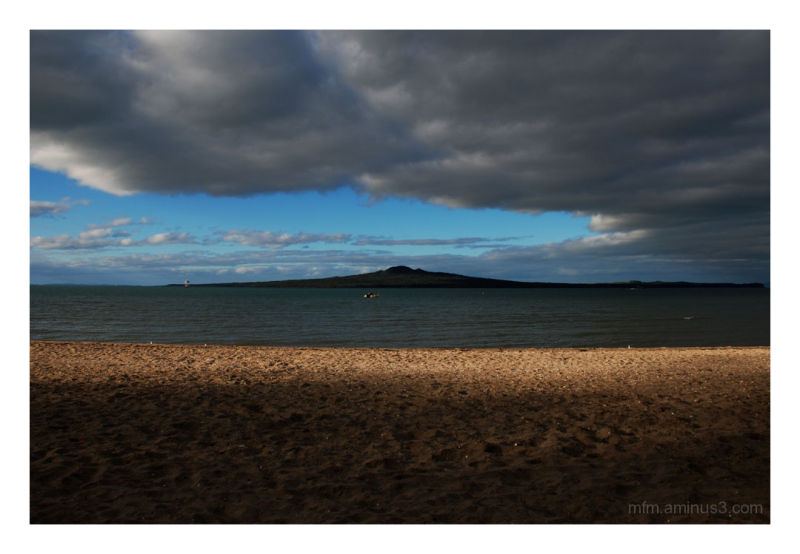 Rangitoto in the early evening
