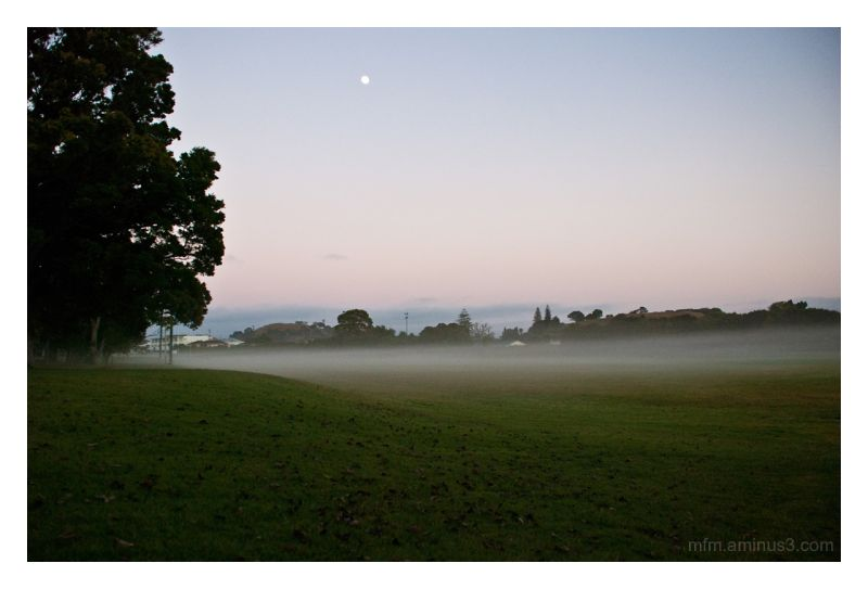 One early misty morning