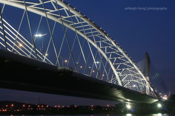 Putrajaya bridge at night