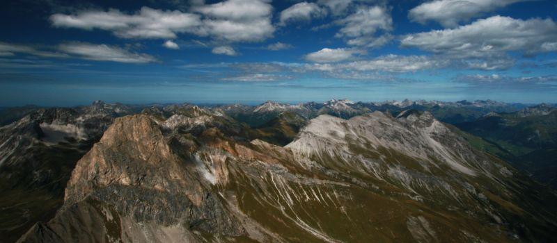 Blick über die Lechtaler Alpen ins Allgäu