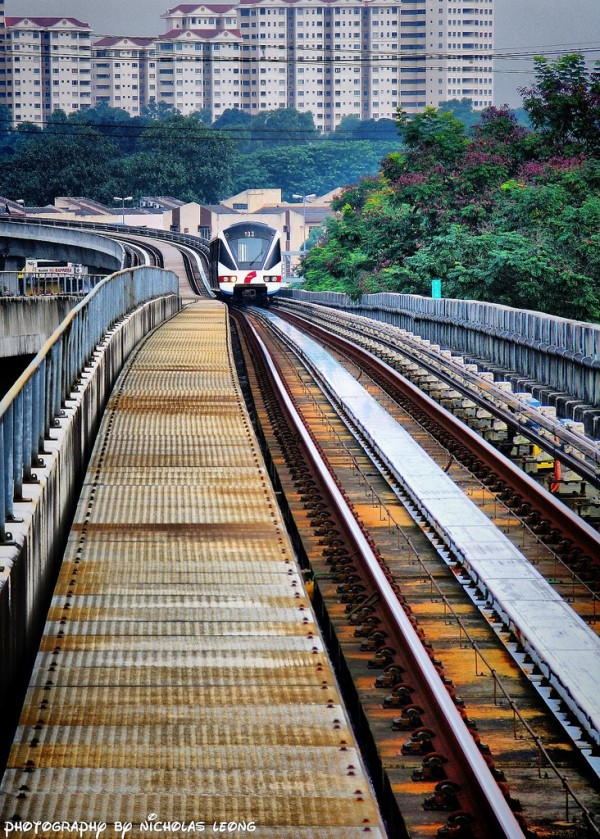 A train on the tracks