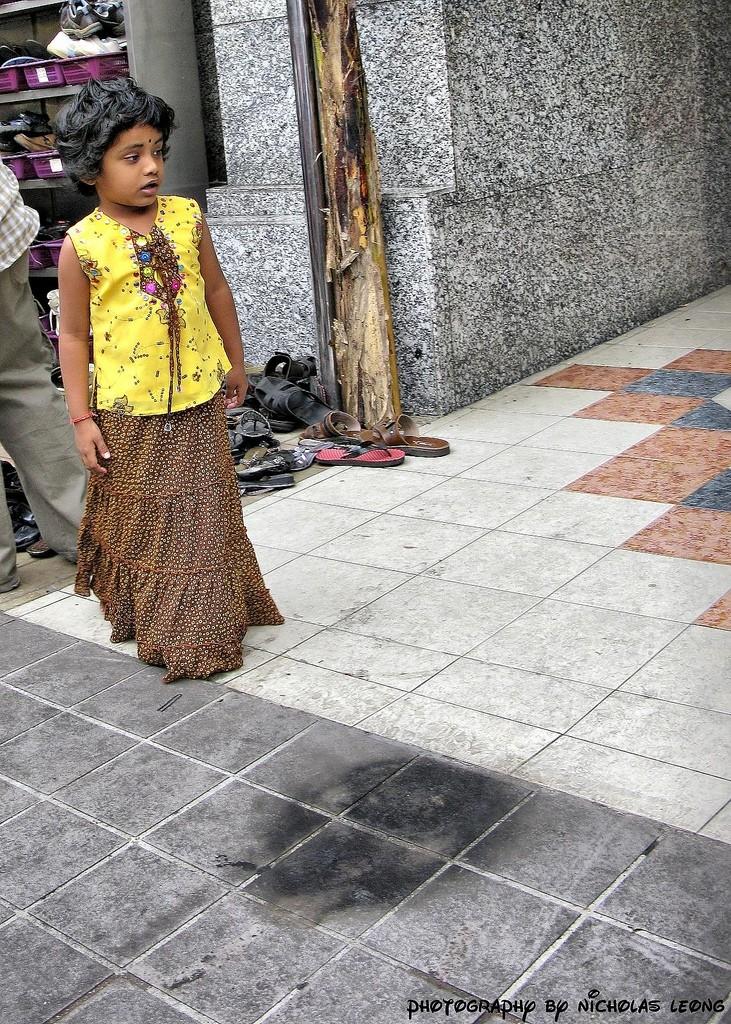 A girl on the street