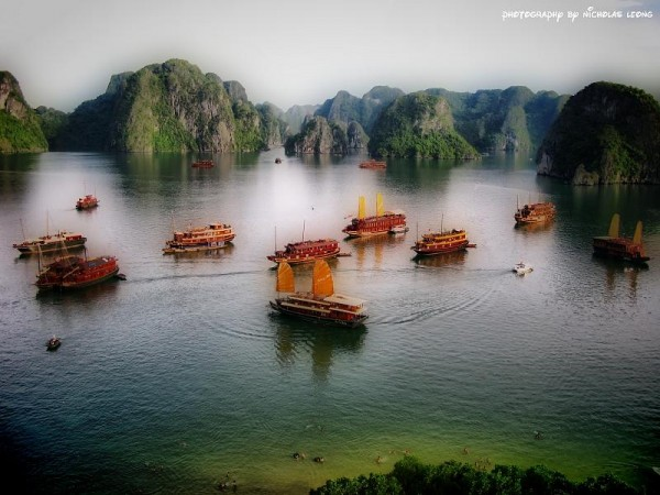 A view of Halong Bay