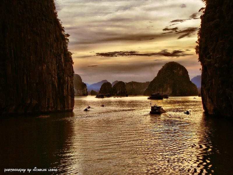 Sunset at Halong Bay