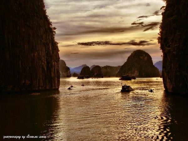 Sunset at Halong Bay