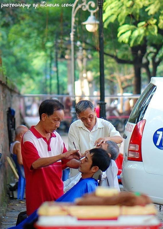 Barbers on the street
