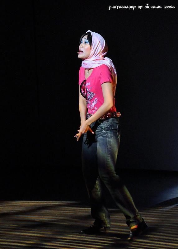 Shahila Johan on stage