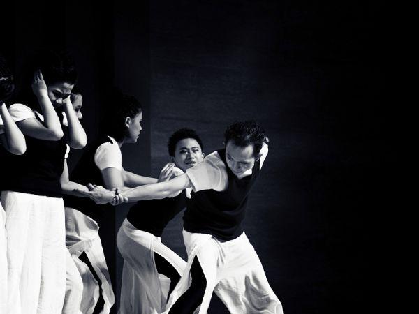 A dancer breaking away