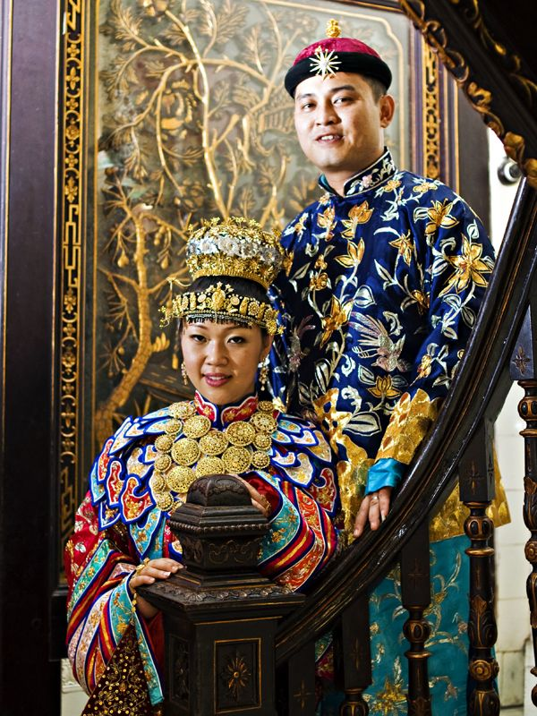 A couple in traditional costume