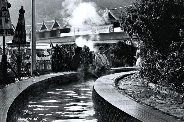 A hot spring